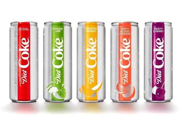 Nova Diet Coke: lançamento nos EUA com novas embalagens e quatro novos sabores