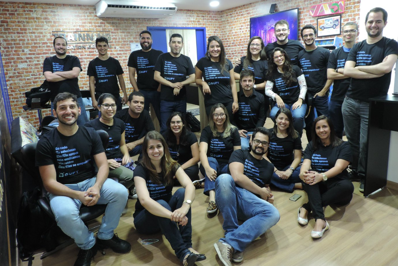 <span>A equipe da startup Gupy</span>