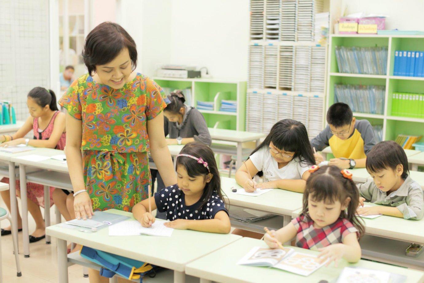 Sala de aula da rede de franquias Kumon