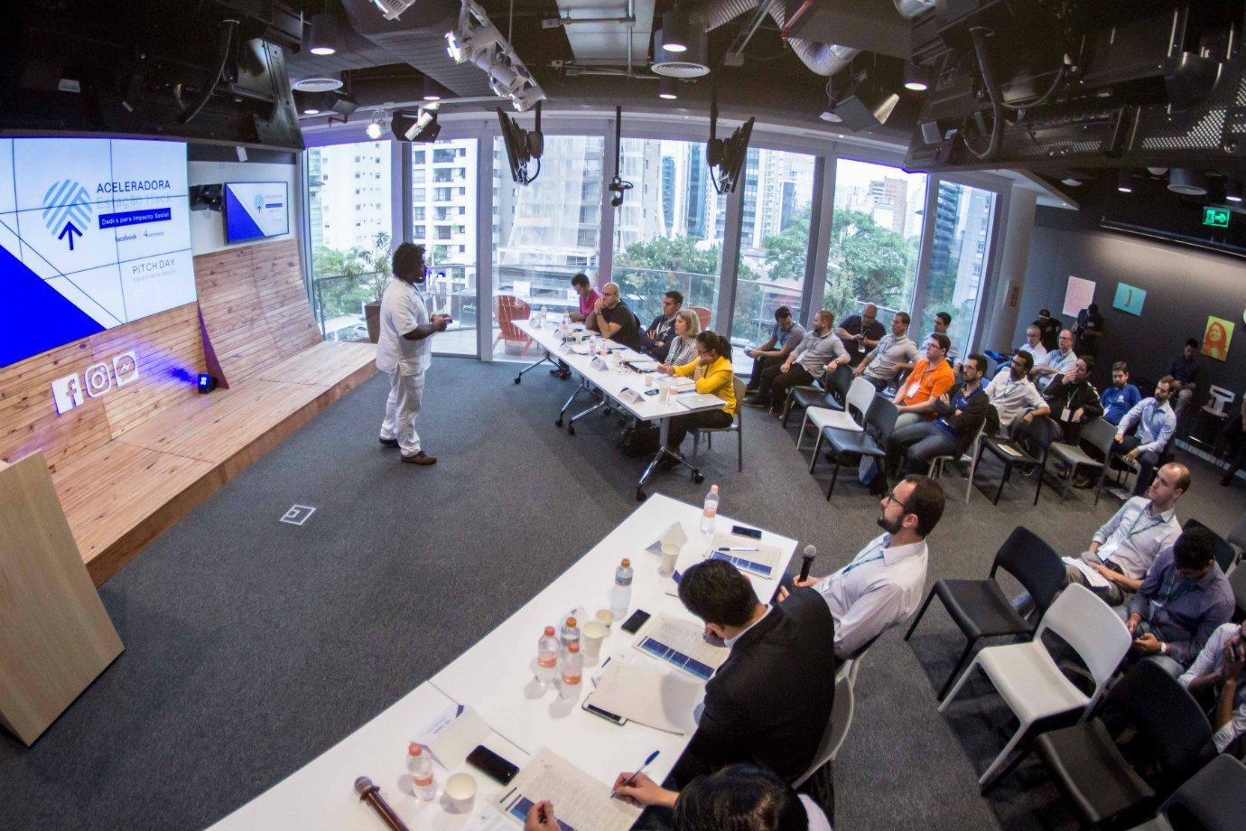 Workshop realizado em espaço da Estação Hack, centro de inovação do Facebook com a Artemisia