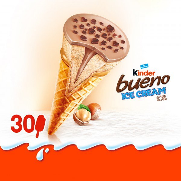 Kinder Bueno: versão em sorvete de casquinha