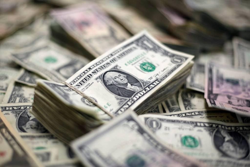 Ilustração de notas de dólar