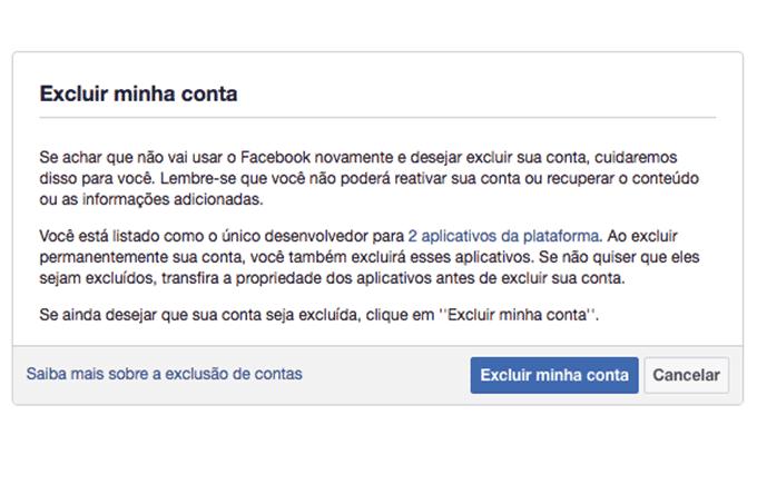 Excluir-Facebook