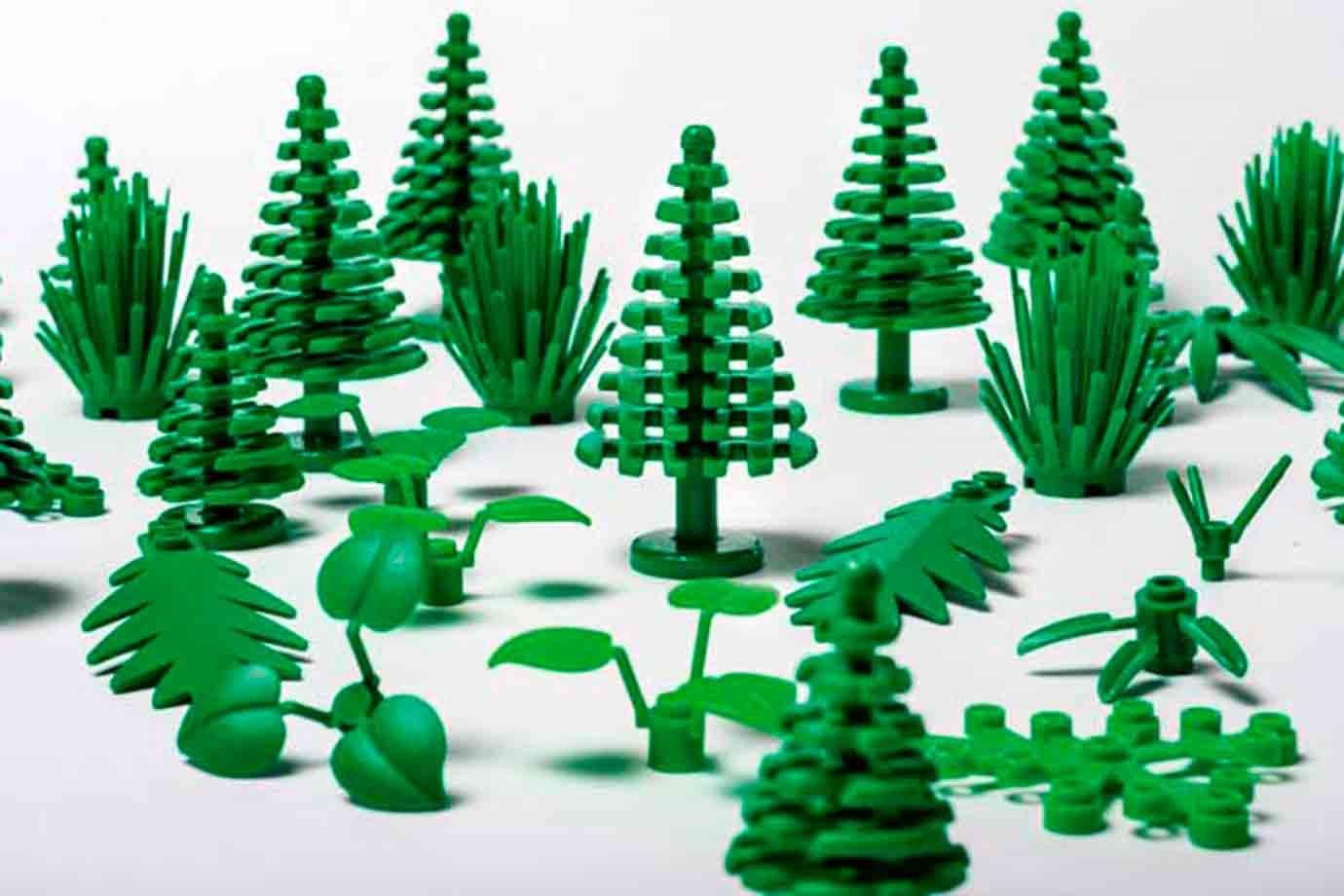 Peças de bioplástico da Lego.