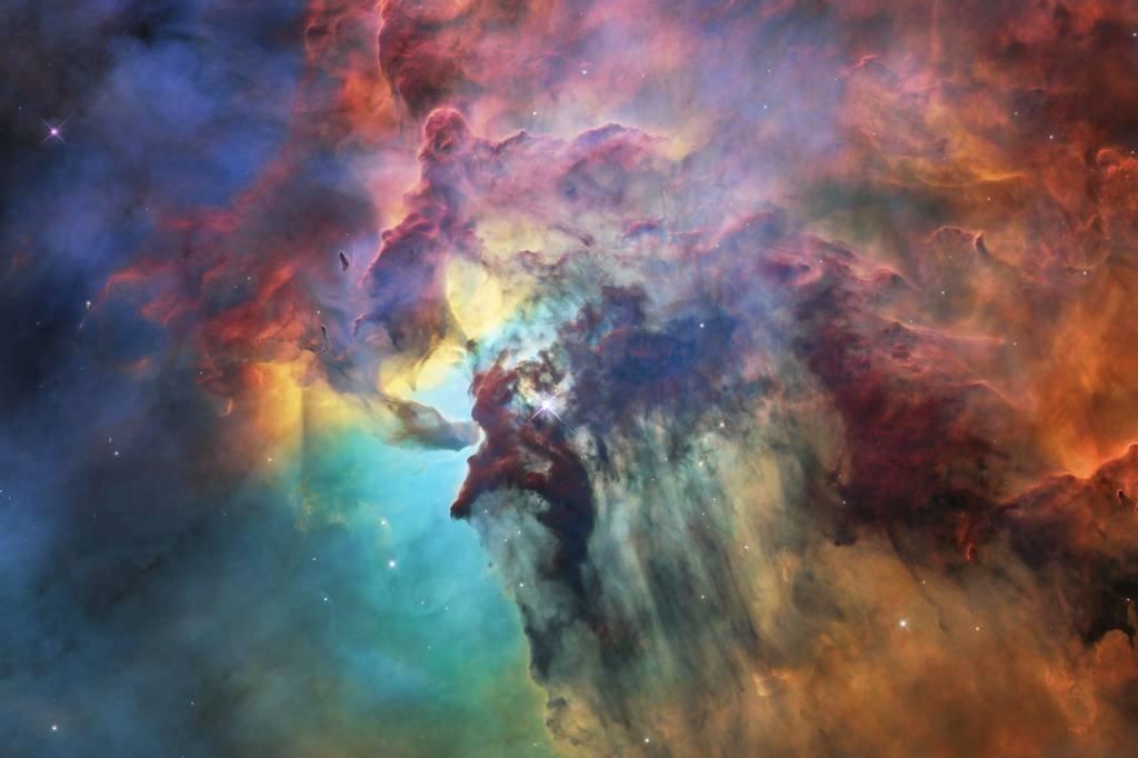 O telescópio Hubble enviou foto da Nebulosa da Lagoa, situada a 4.000 anos luz da terra