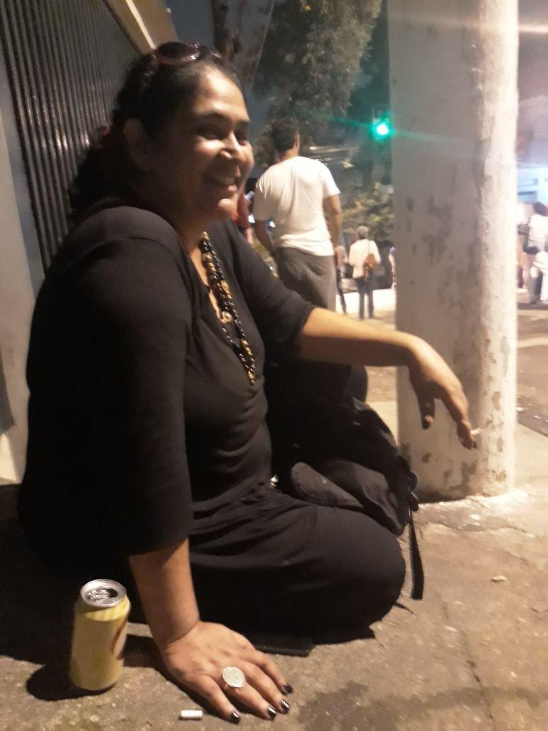 Elisângela da Silva, 45, advogada e militante petista, no dia da prisão de Lula