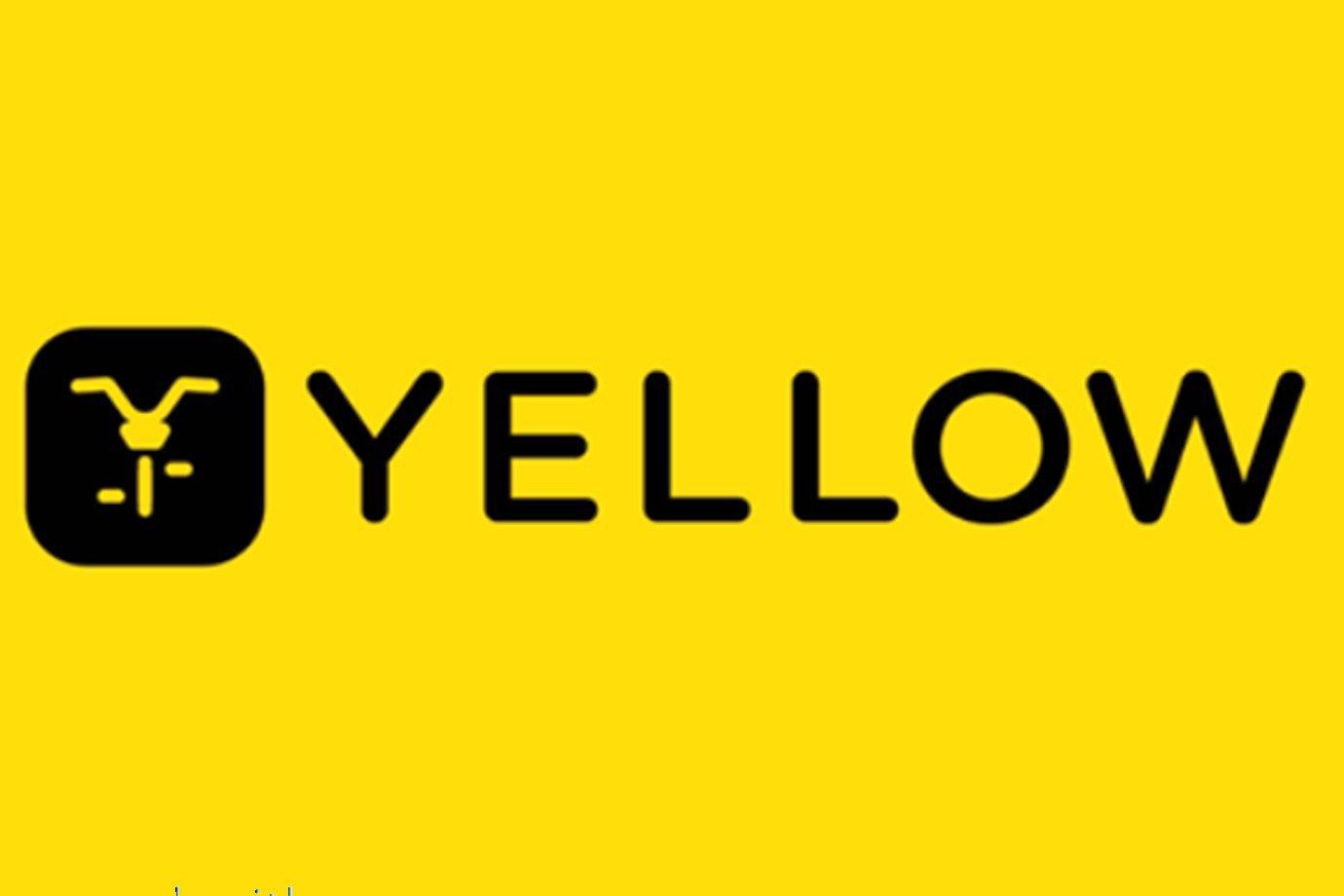 Logo da Yellow, startup de compartilhamento de bicicletas