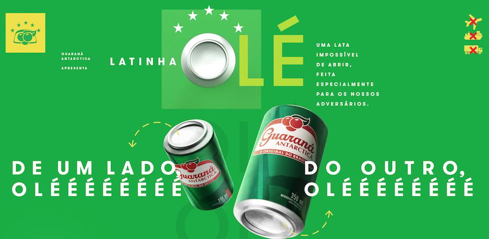 """Guaraná Antarctica: lata especial para dar um """"olé"""" nos gringos"""