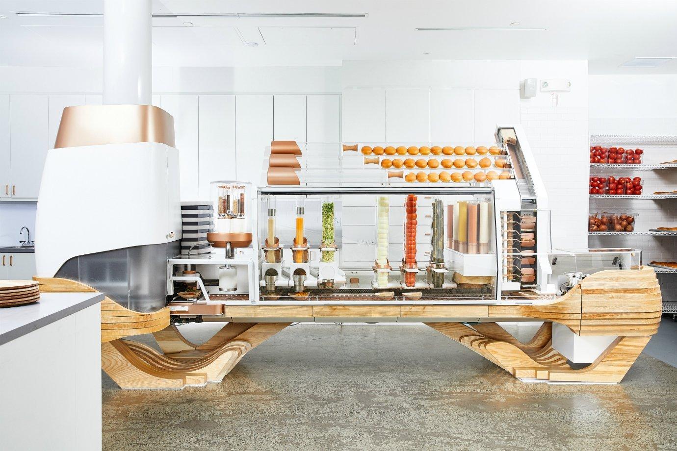 A máquina-chef da hamburgueria Creator, de São Francisco