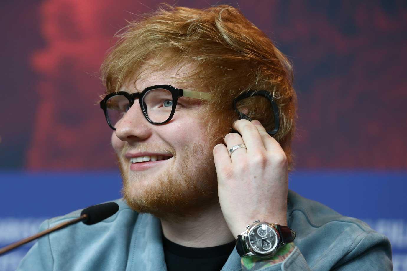 Músico Ed Sheeran, dia 23/02/2018