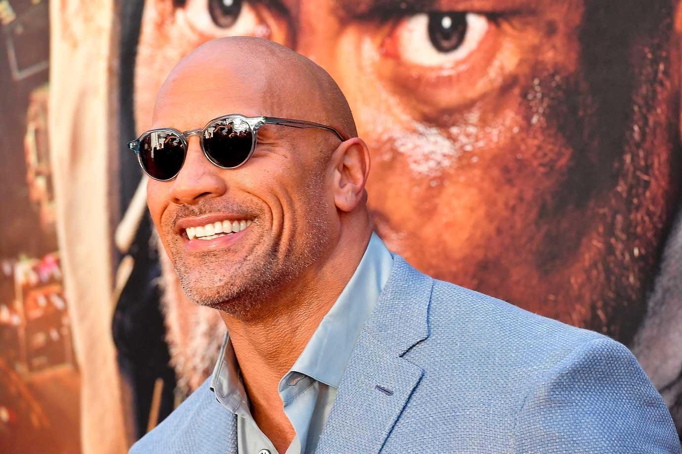 "Ator Dwayne ""the rock"" Johnson, dia 10/07/2018"
