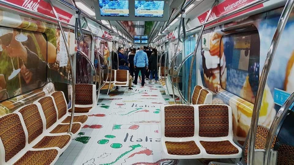 Metrô de São Paulo: campanha da agência de turismo italiana