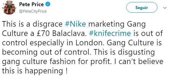 Nike: imagem de modelo negro com balaclava foi alvo de críticas