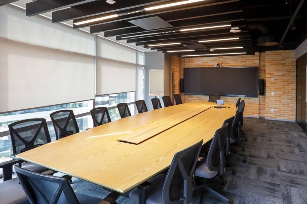 Sala de reunião da cúpula da empresa