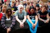Protesto anti-racista em Chemnitz, na Alemanha