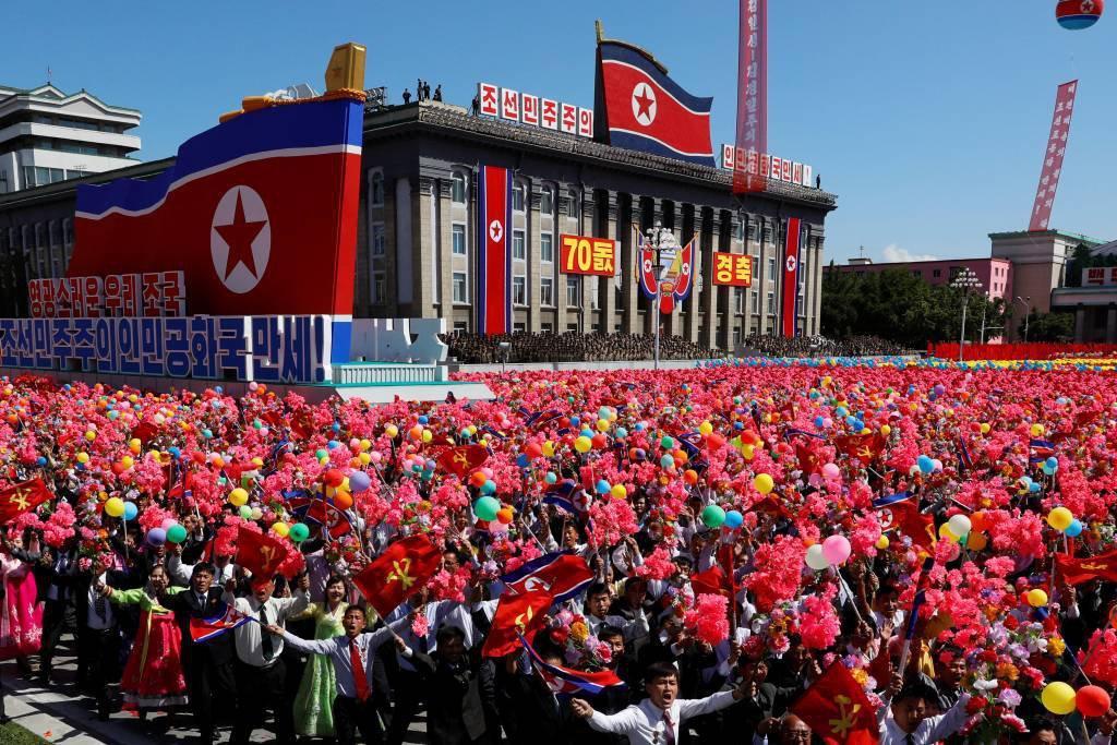 Aniversário de 70 anos da Coreia do Norte