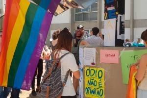 Ato dos alunos na faculdade FAAP, contra intolerância e machismo