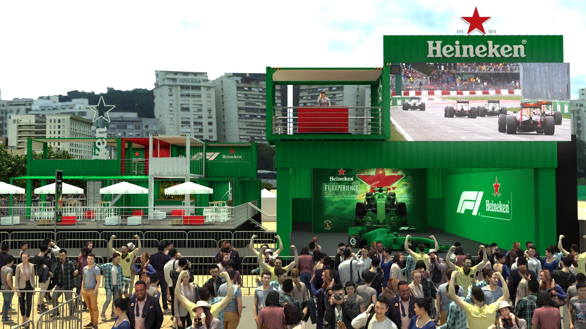 Evento da Heineken de F-1 vai ter exibição de pilotos brasileiros