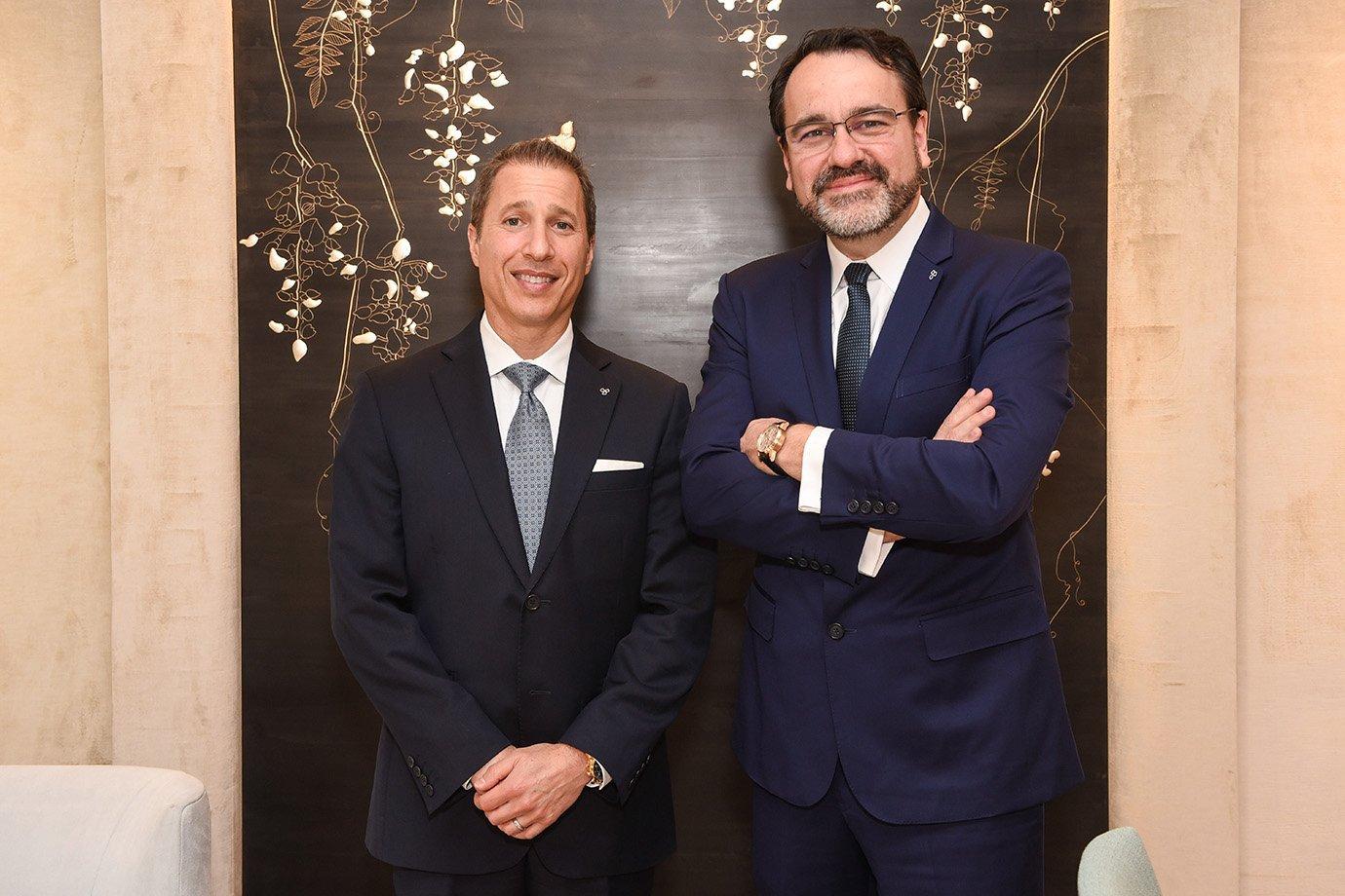 Jonathan Bruckner e Luciano Rodembusch, executivos da Tiffany&Co.