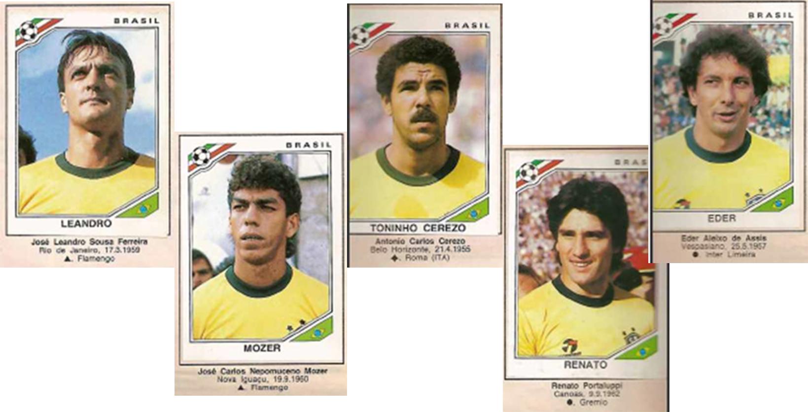 Figurinhas Copa do Mundo 1986