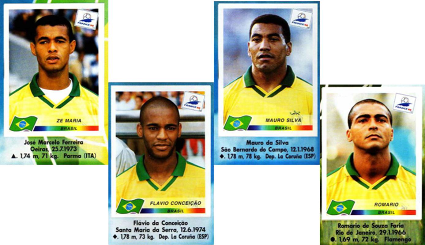 Figurinhas Copa do Mundo 1998