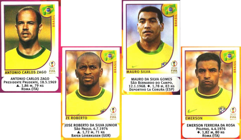 Figurinhas Copa do Mundo 2002