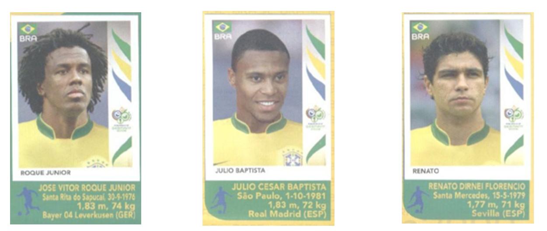 Figurinhas Copa do Mundo 2006