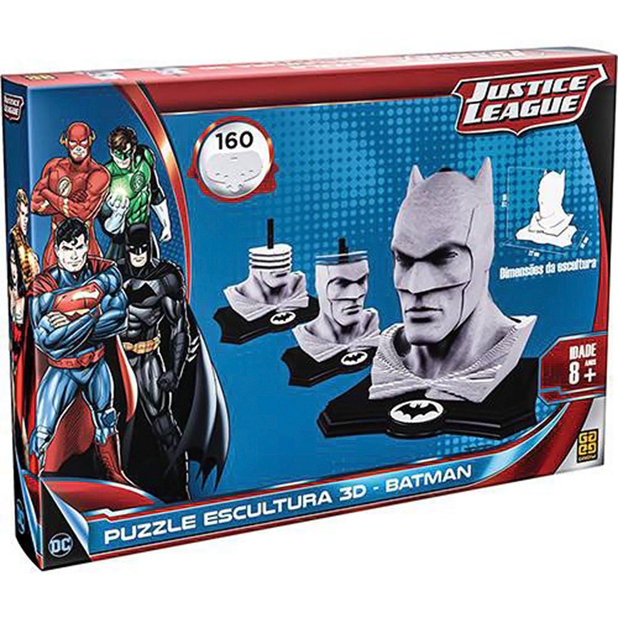 Quebra-Cabeça Escultura 3D Batman 160 Peças da Grow, vendido por R$ 119,99 no site da Americanas