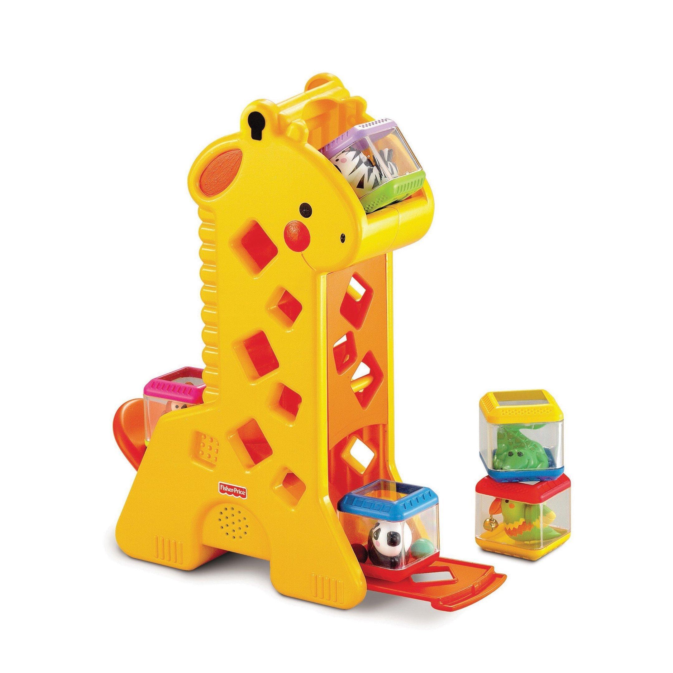 Girafa com blocos Fischer Price, vendida por R$ 139,99 na HiHappy
