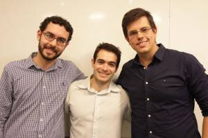 Bruno Lagoeiro, Eduardo Moura e Pedro Gemal, fundadores da Pebmed, empresa que desenvolveu o Whitebook