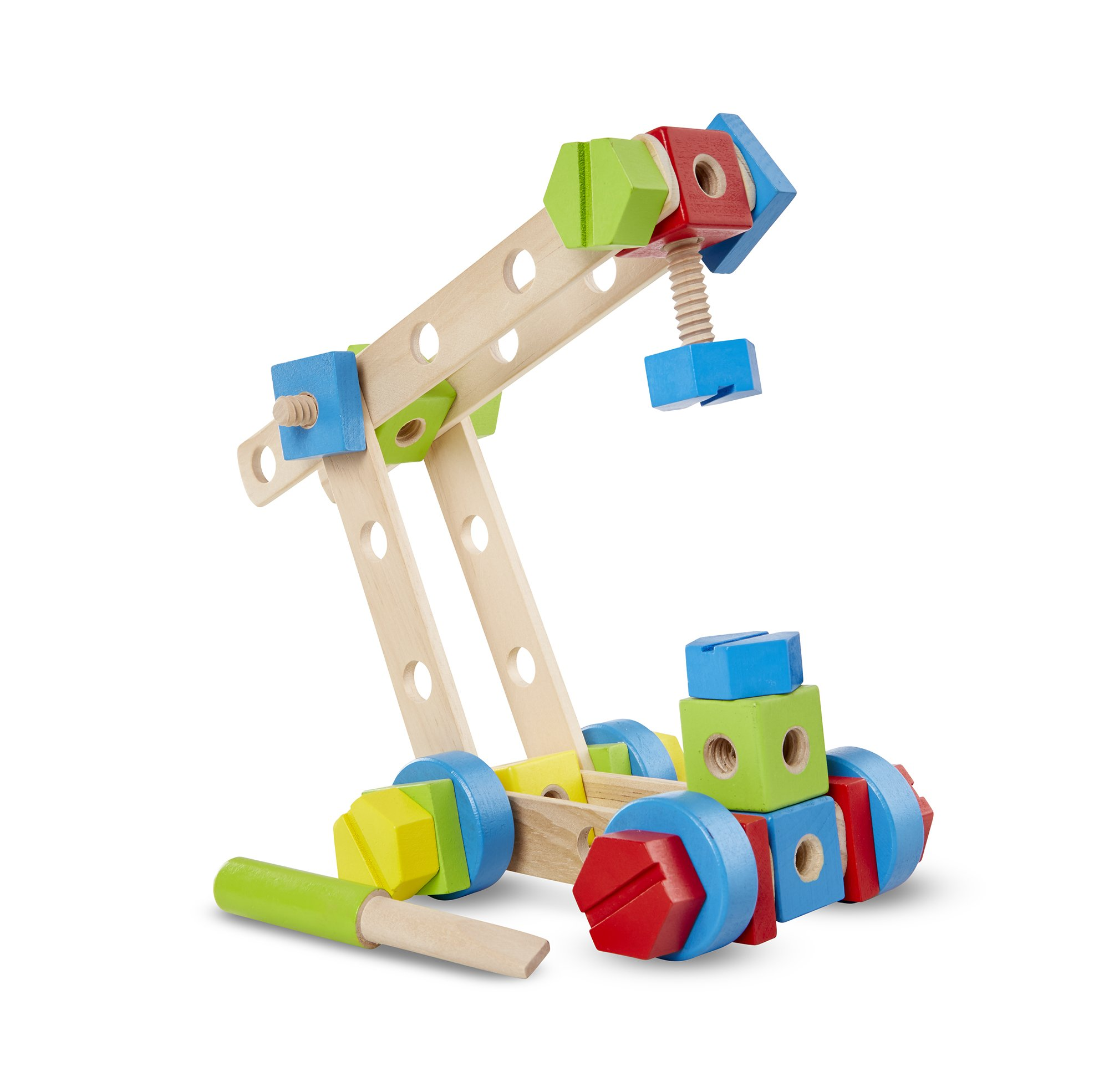 Guindaste para construir de madeira Melissa and Doug, vendido por R$ 129,99 na PBKids
