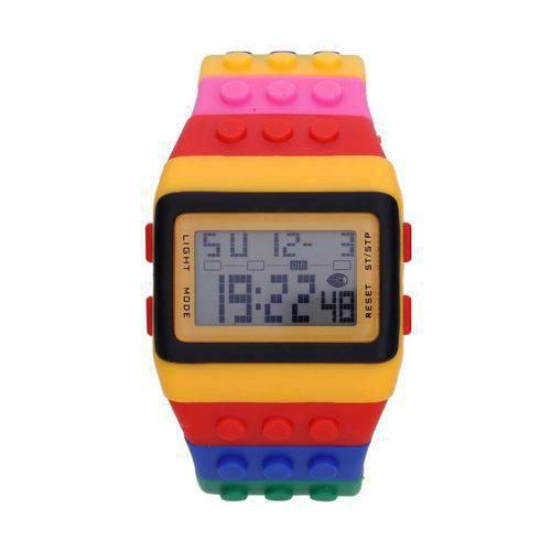 Relógio Lego, vendido por R$ 79,00 no Submarino