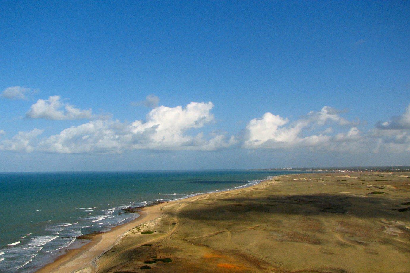 Praia de Touros, a 80 km de Natal, no Rio Grande do Norte