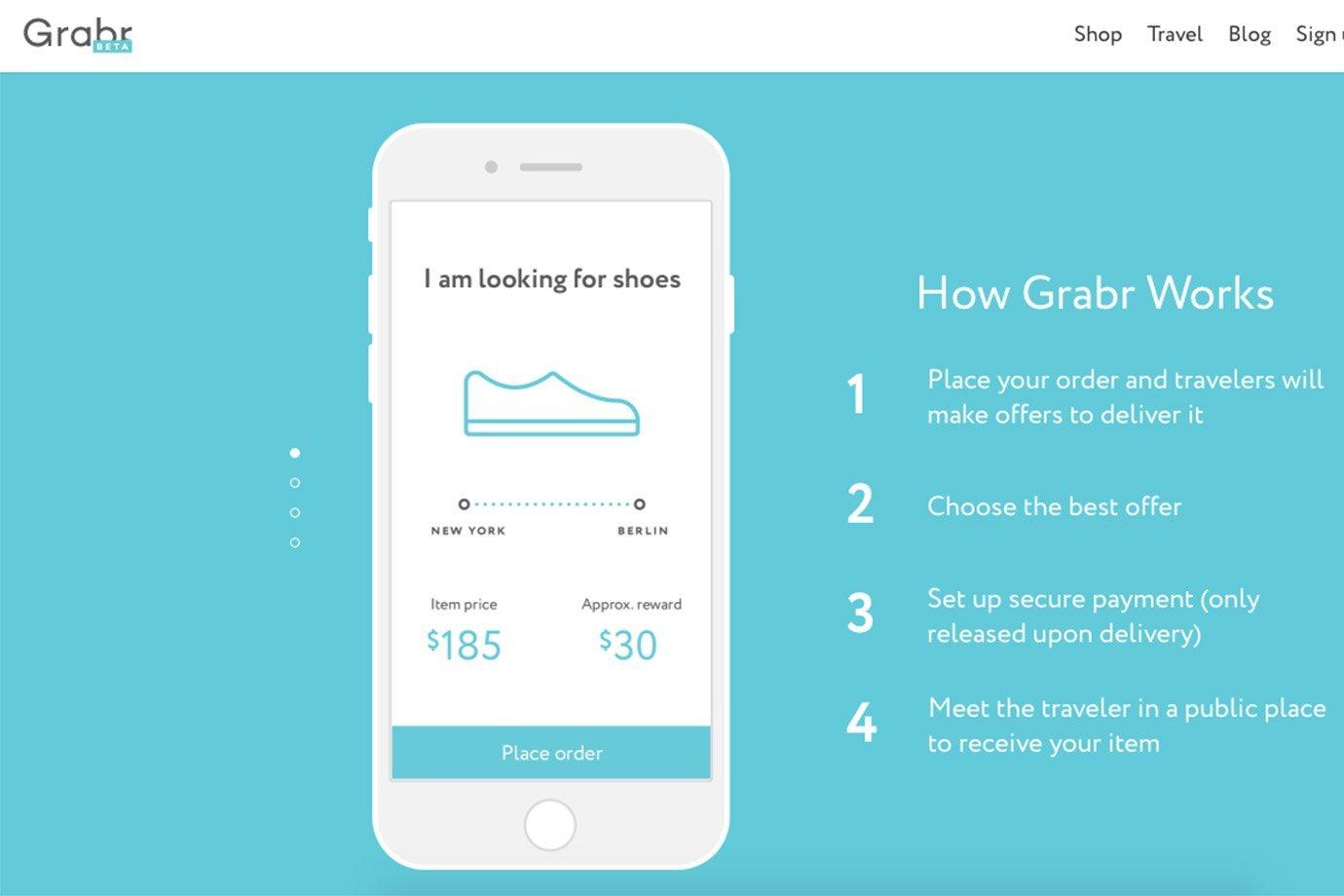 Instruções para usar o Grabr, no site da plataforma