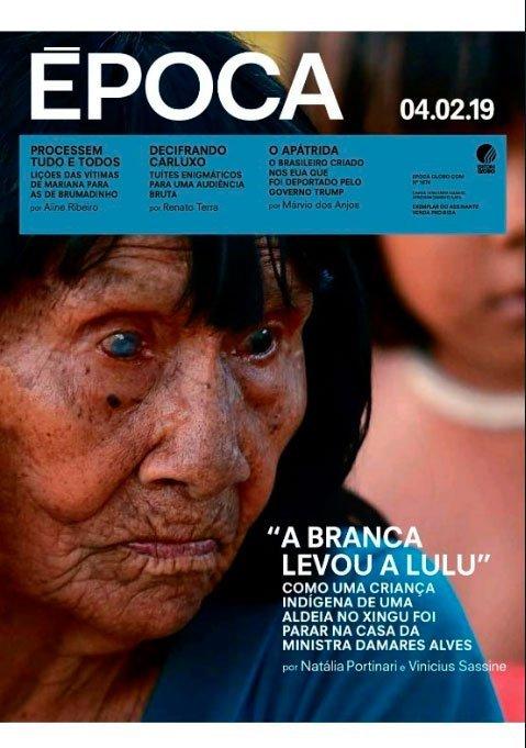 "Capa da revista Época: ""A branca levou a Lulu"""