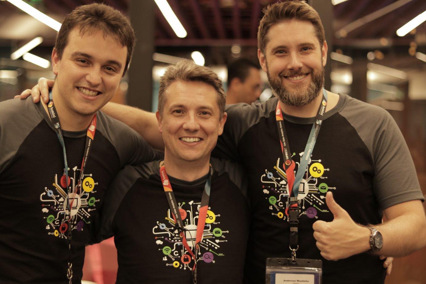 Victor Barros, Erick Moutinho e Anderson Moutinho, da Eskolare