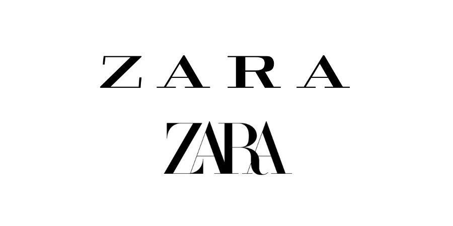 Logo da Zara: antiga e nova versão