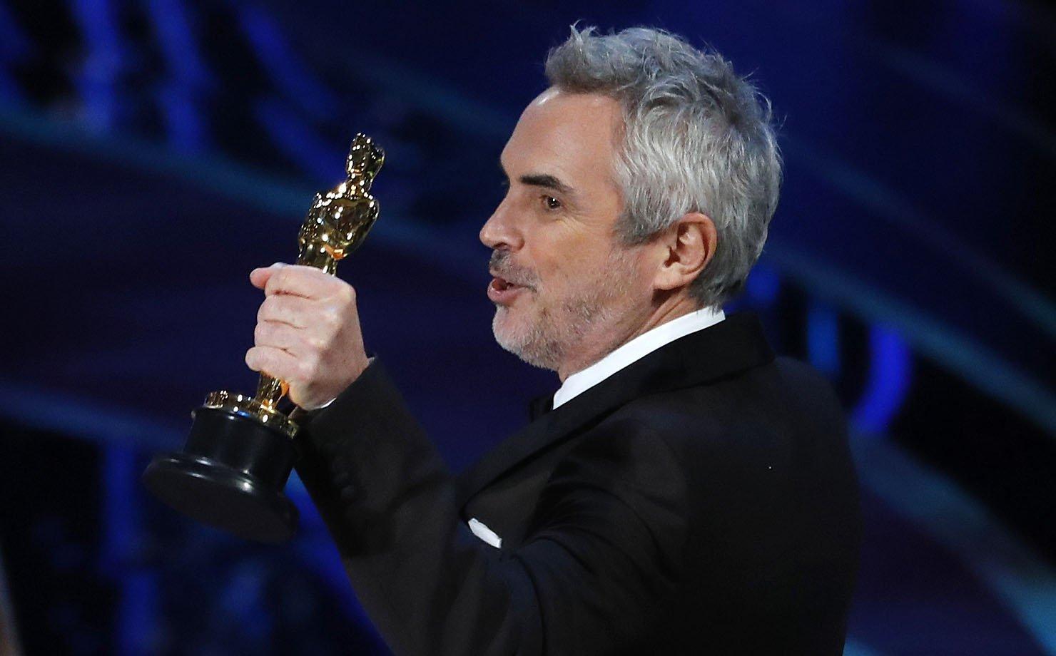 """O diretor mexicano Alfonso Cuarón, vencedor do Oscar de """"Melhor fotografia"""" e """"Melhor filme estrangeiro"""""""