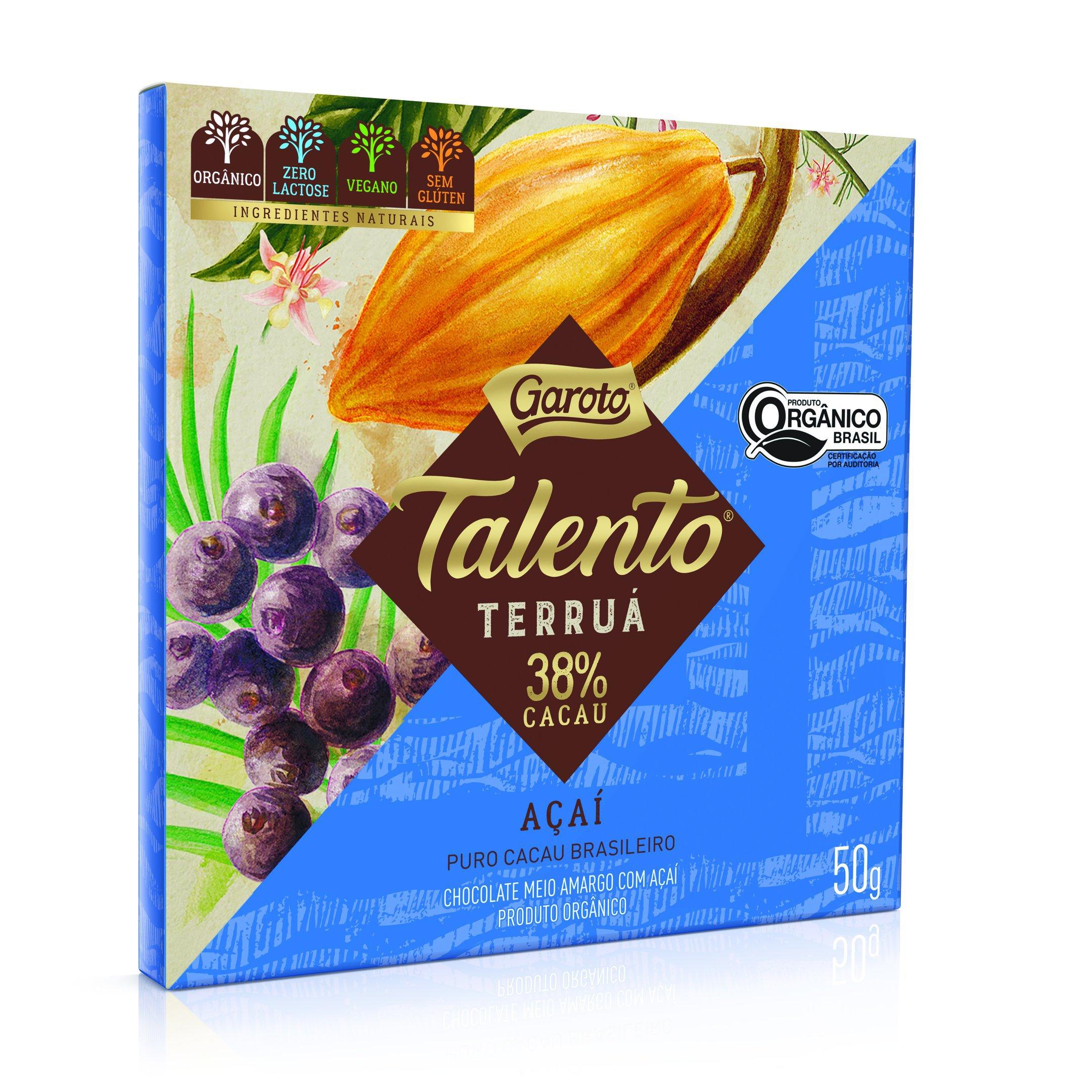 Lançamento da Garoto: Talento na versão chocolate orgânico