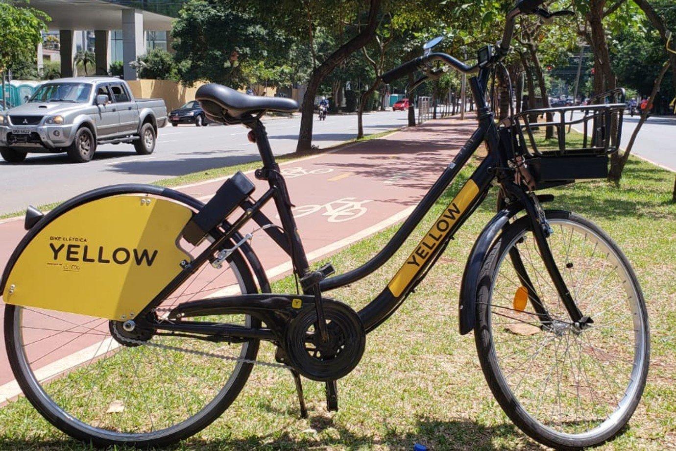 Bicicleta elétrica da Yellow, hoje parte da Grow