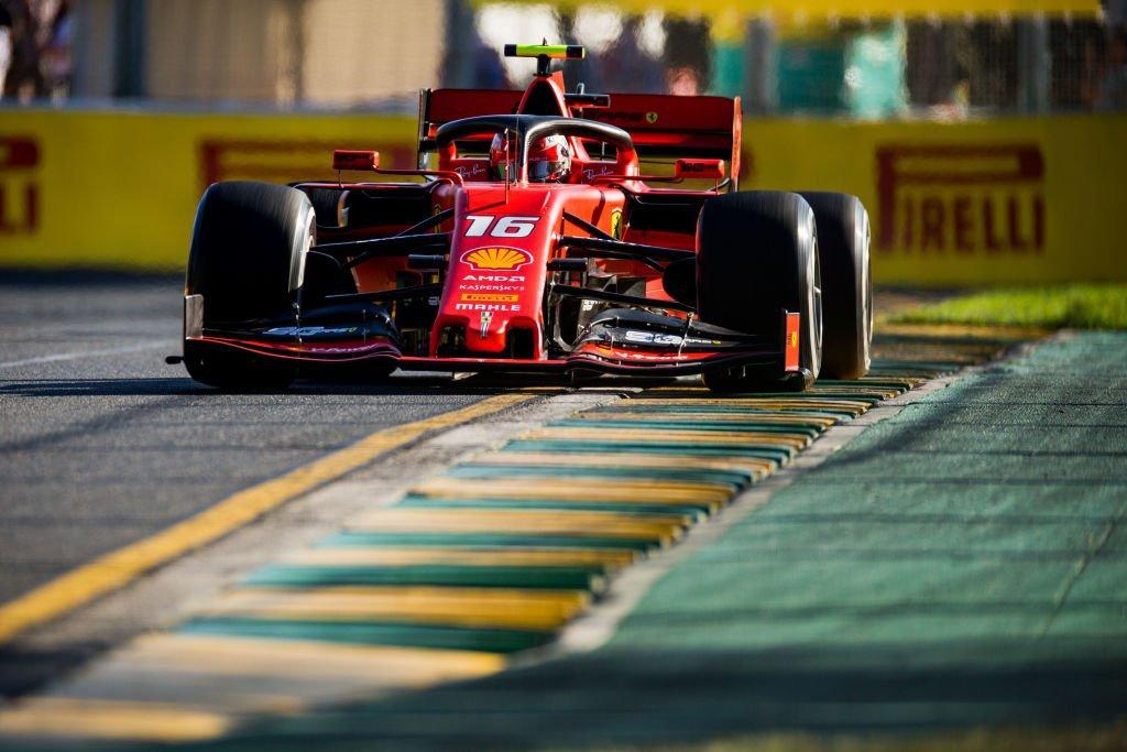 Charles Leclerc, da Ferrari, em treino livre no GP da Austrália (15/03/2019)