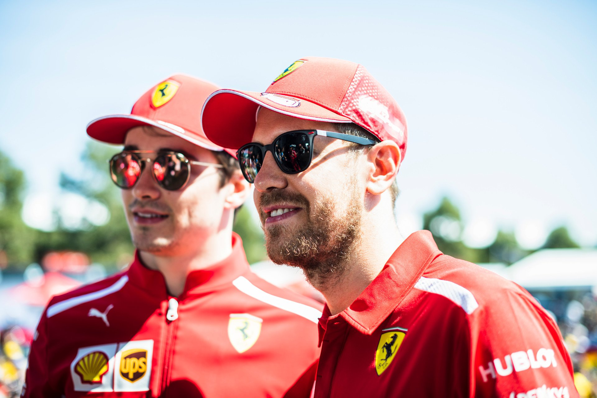 Leclerc e Vettel no GP da Austrália (15/03/2019)