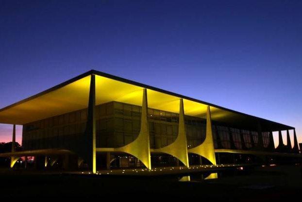 Vista do Palácio do Planalto