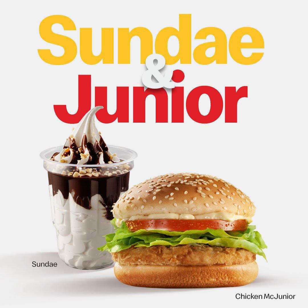 Sundae e Junior: piada do McDonald's aproveitando carona na notícia que repercutiu em todo o País