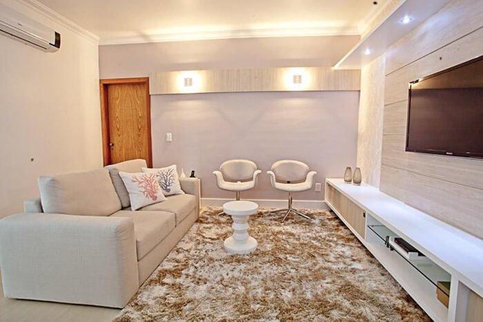 Projeto de decoração de Camila Chalon utiliza tapete