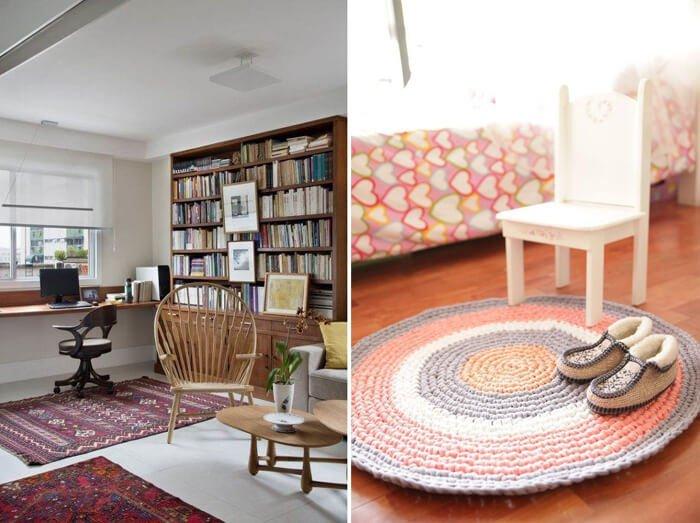 Projetos de decoração publicados na revista Viva Decora utilizam tapetes