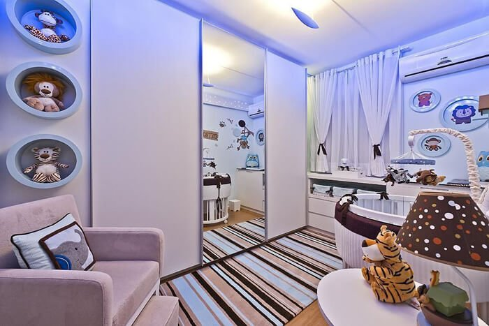 Projeto de decoração de Helaine Goes Pinterich utiliza tapete