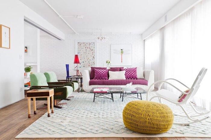 Projeto de decoração de Flávia Gerab Tayar utiliza tapete
