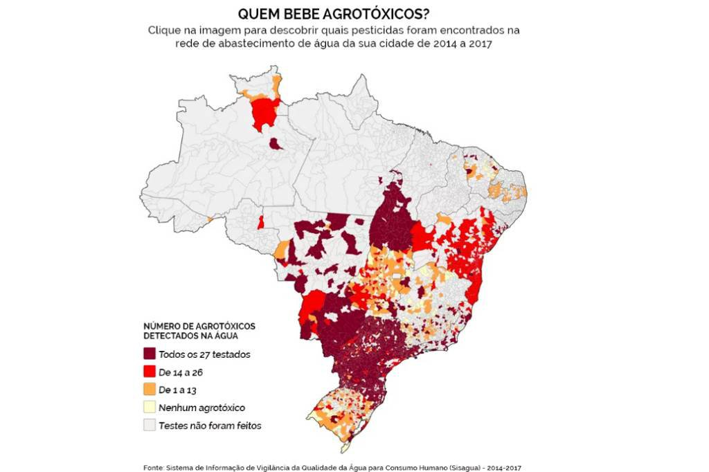 Material de apoio de matéria da Agência Pública sobre agrotóxicos