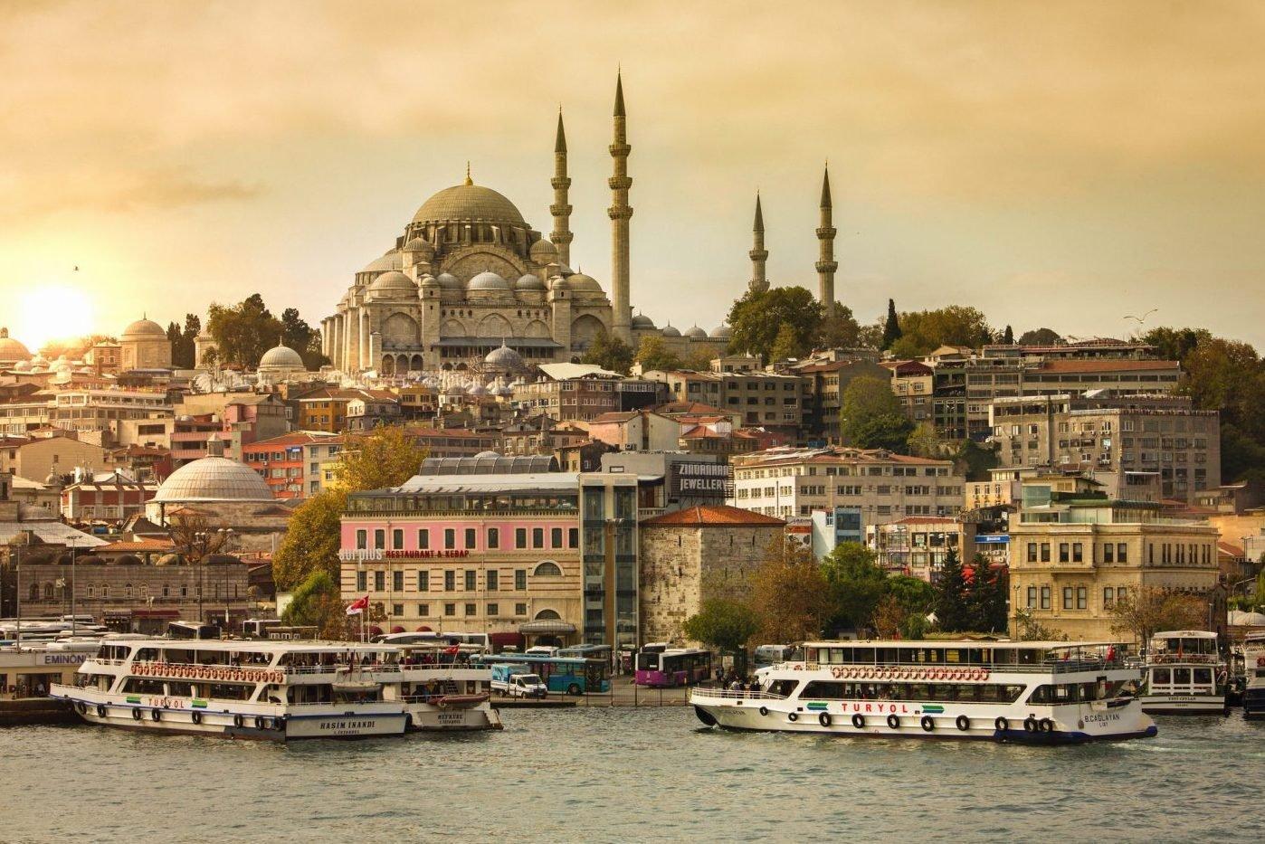 Vista da cidade de Istambul, na Turquia
